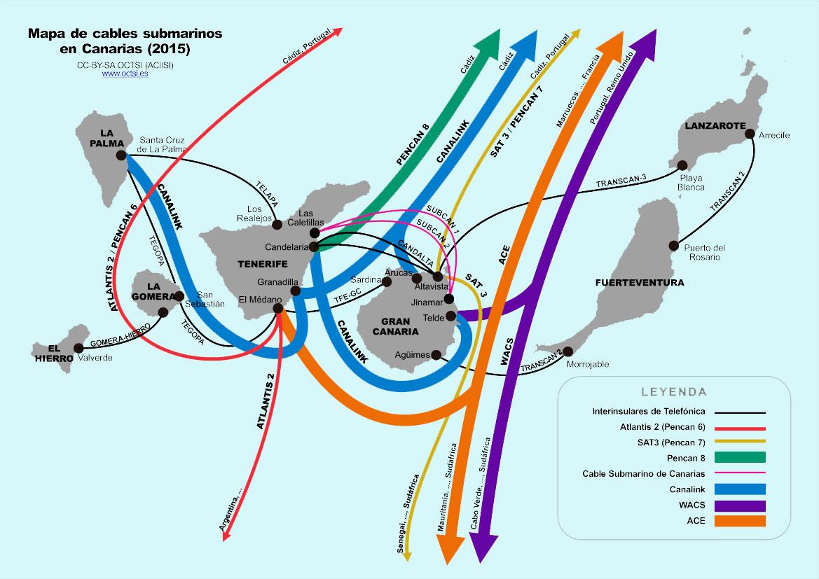 cables submarinos canarias 2015